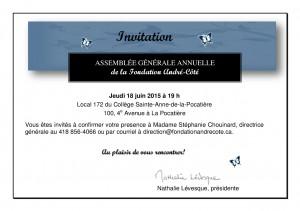 Invitation AGA juin 2015