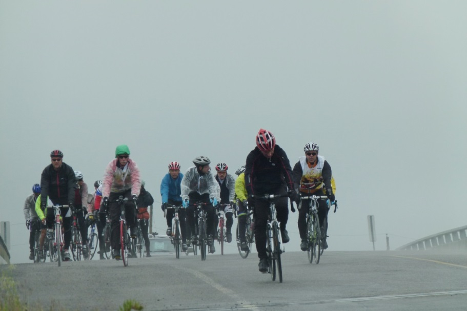 Cyclistes du 125 km. Photo Denis Beaulieu