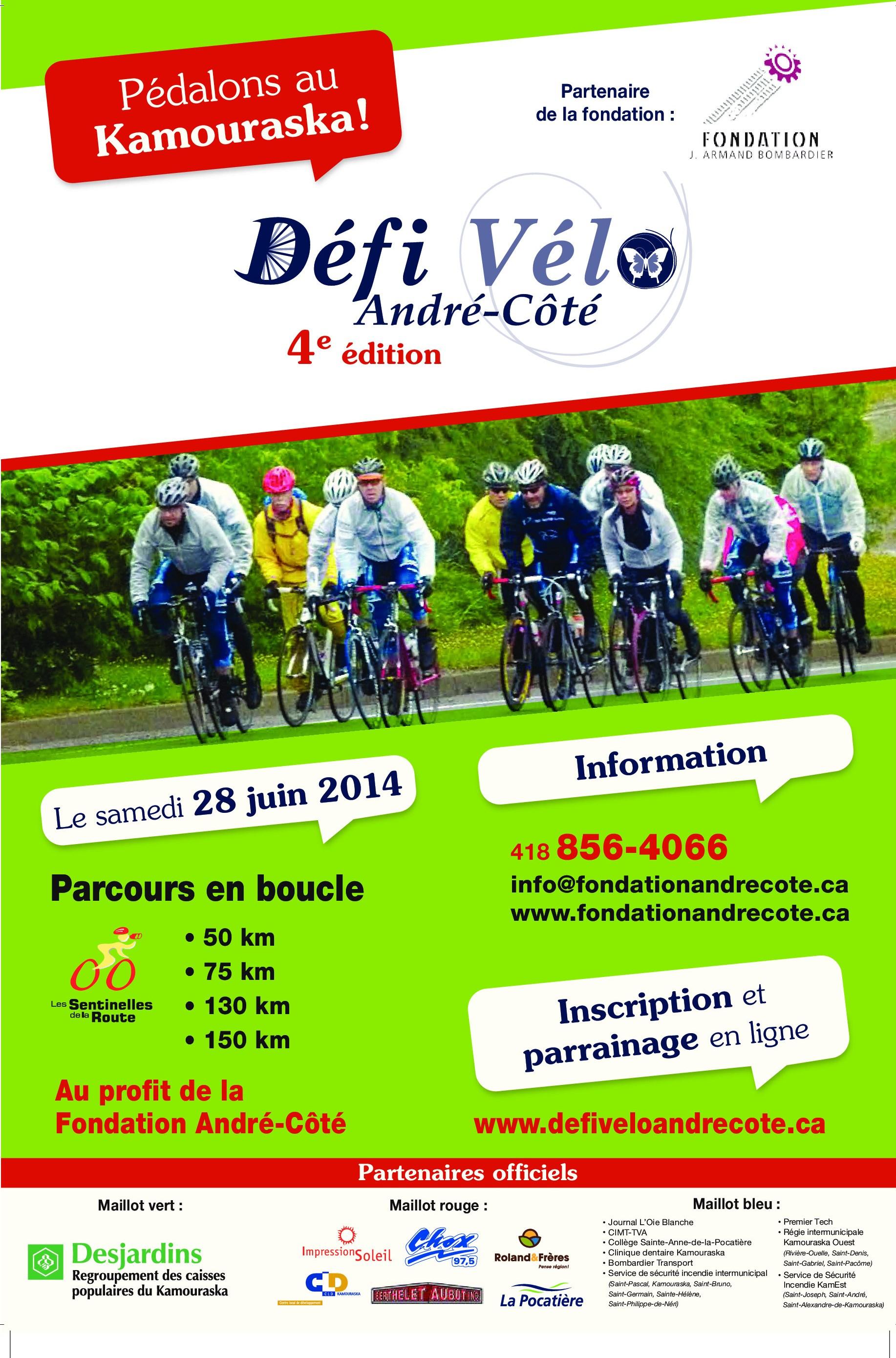 Affiche Défi Vélo André-Côté 2014