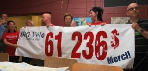 Dévoilement du montant amassé par le Défi Vélo 2014 par le comité organisateur