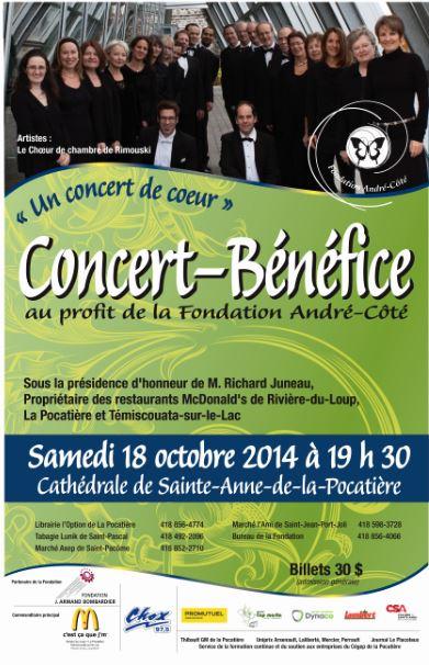 Affiche Concert-bénéfice 2014