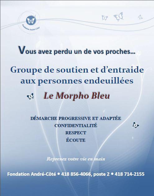 Affiche Groupe soutien deuil Le Morpho Bleu