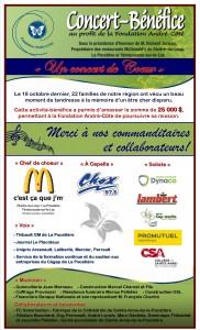 Remerciements Concert-bénéfice 2014