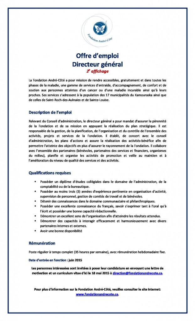 Offre d'emploi DG 2015_2